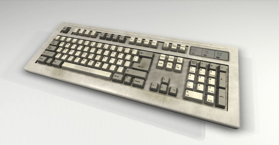 Keyboard royalty-free 3d model - Preview no. 3