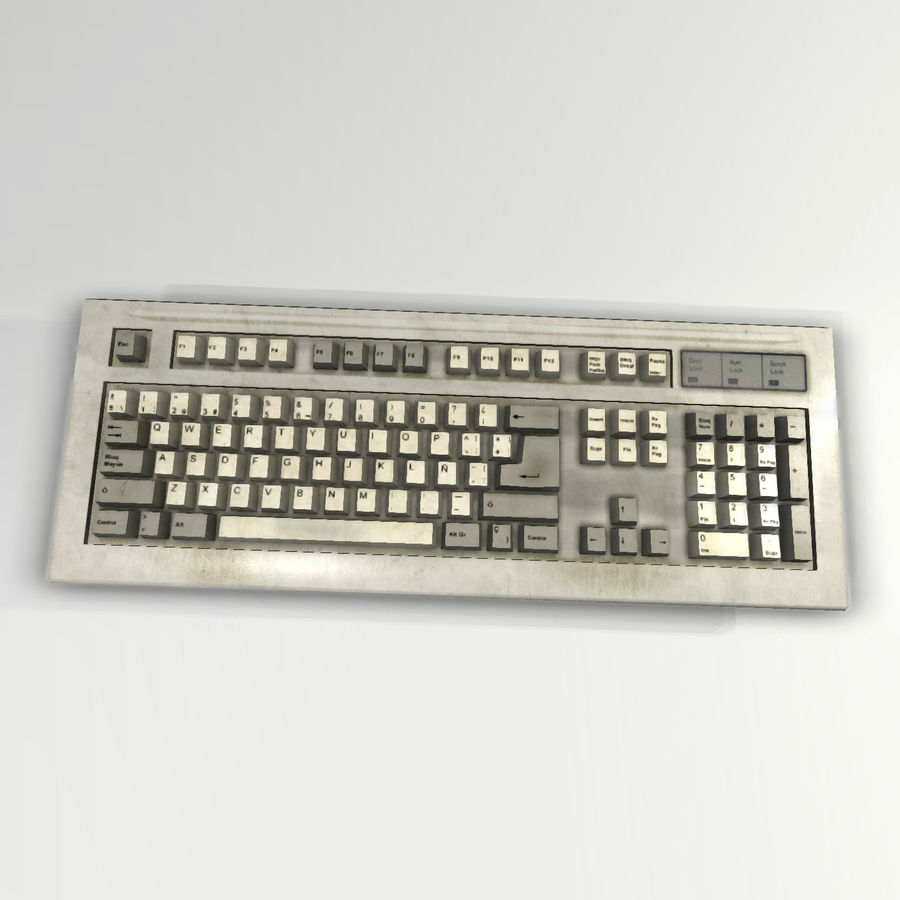 Keyboard royalty-free 3d model - Preview no. 1