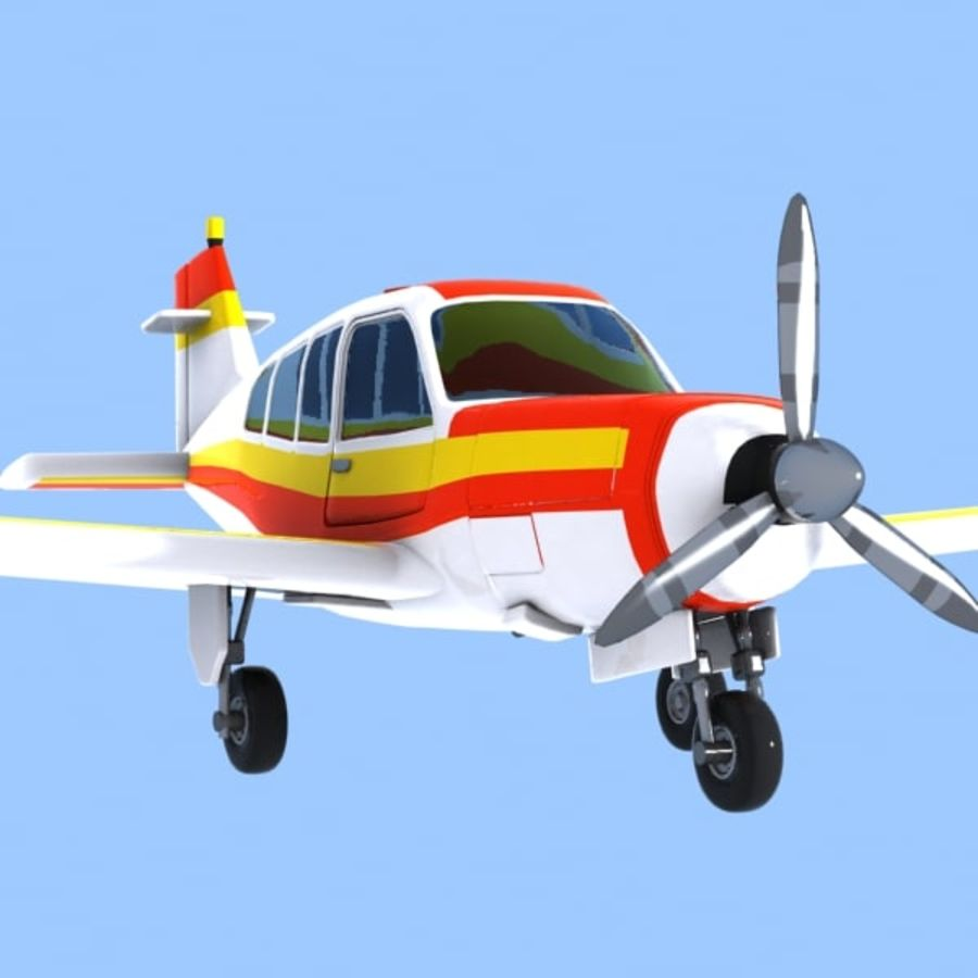 Cartoon Trainer Aircraft 1 royalty-free 3d model - Preview no. 8