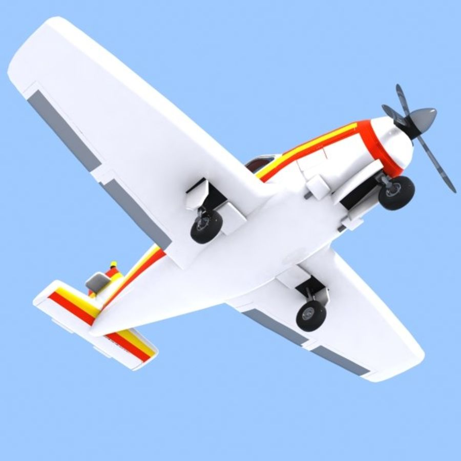 Cartoon Trainer Aircraft 1 royalty-free 3d model - Preview no. 6