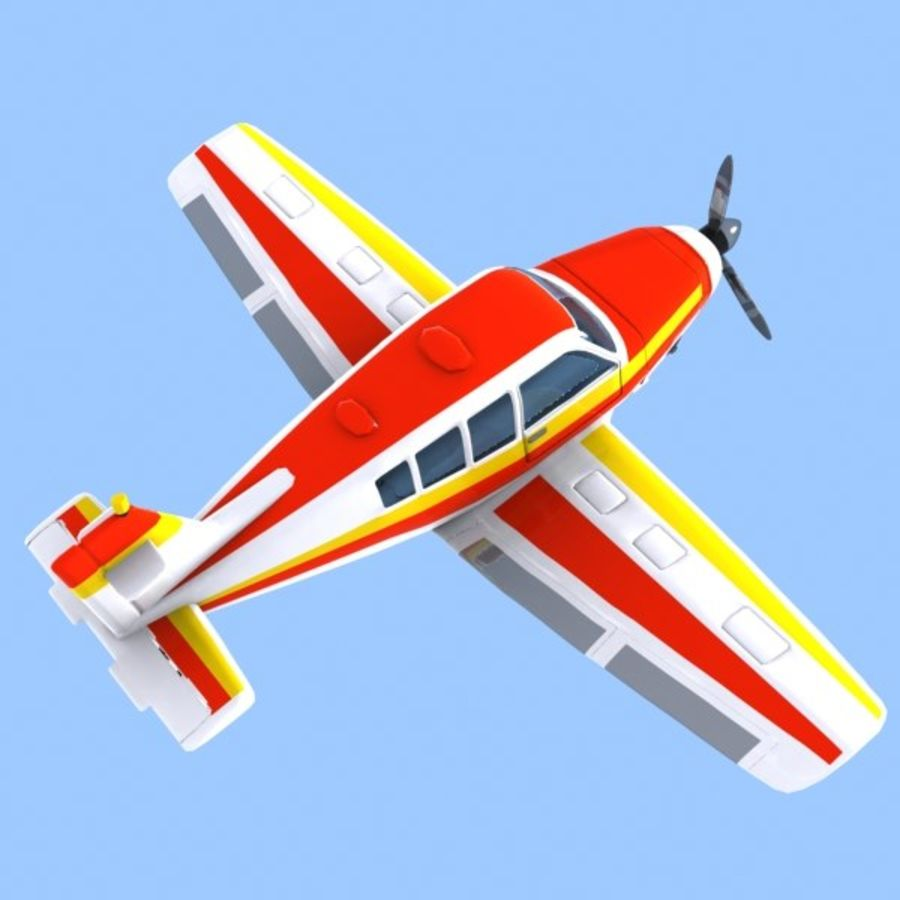 Cartoon Trainer Aircraft 1 royalty-free 3d model - Preview no. 4