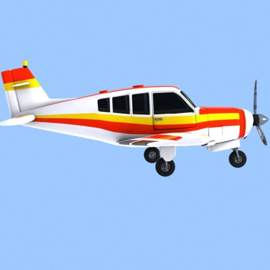 Cartoon Trainer Aircraft 1 royalty-free 3d model - Preview no. 5