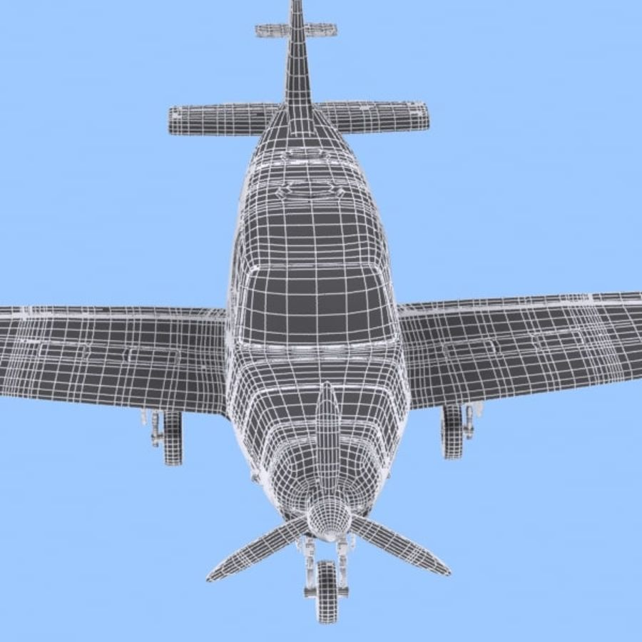 Cartoon Trainer Aircraft 1 royalty-free 3d model - Preview no. 15