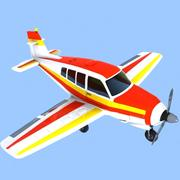 Cartoon Trainer Aircraft 1 3d model