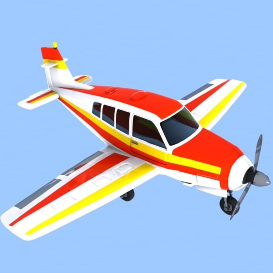 Cartoon Trainer Aircraft 1 royalty-free 3d model - Preview no. 1