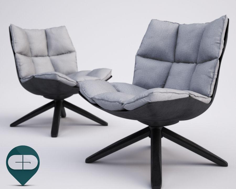 Husk Bb Italia Chair 3d Model 28 Unknown C4d Obj Fbx 3ds