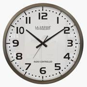 Reloj de pared de plata modelo 3d