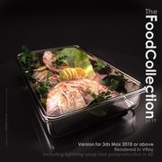 Рыба в стеклянной кастрюле 3d model