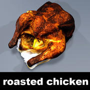 Roasted Chicken Textured 3d model