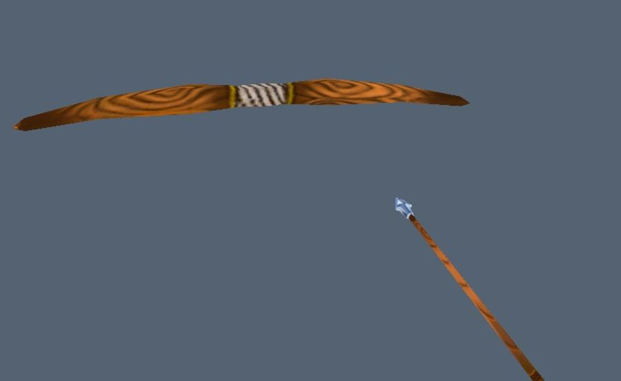 Bow and arrow royalty-free 3d model - Preview no. 3