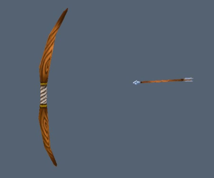 Bow and arrow royalty-free 3d model - Preview no. 1
