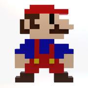 Марио 8 бит 3d model