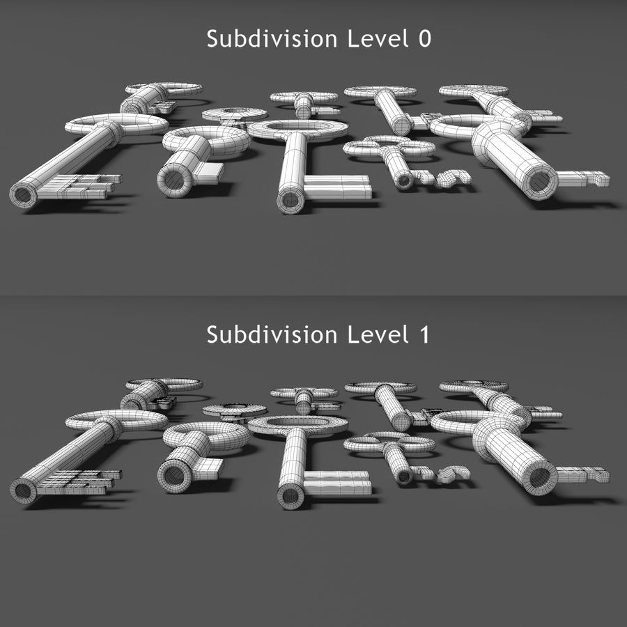 10 kluczy royalty-free 3d model - Preview no. 8