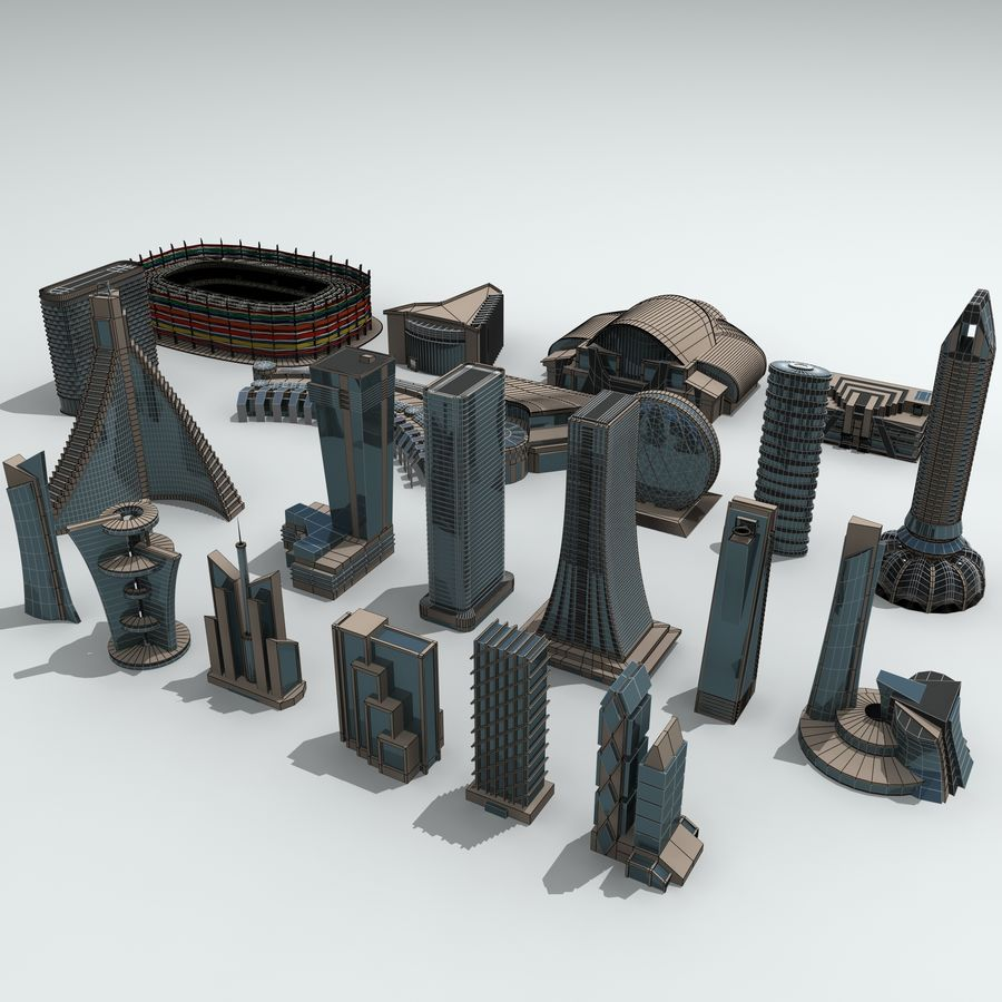 City Buildings royalty-free 3d model - Preview no. 31