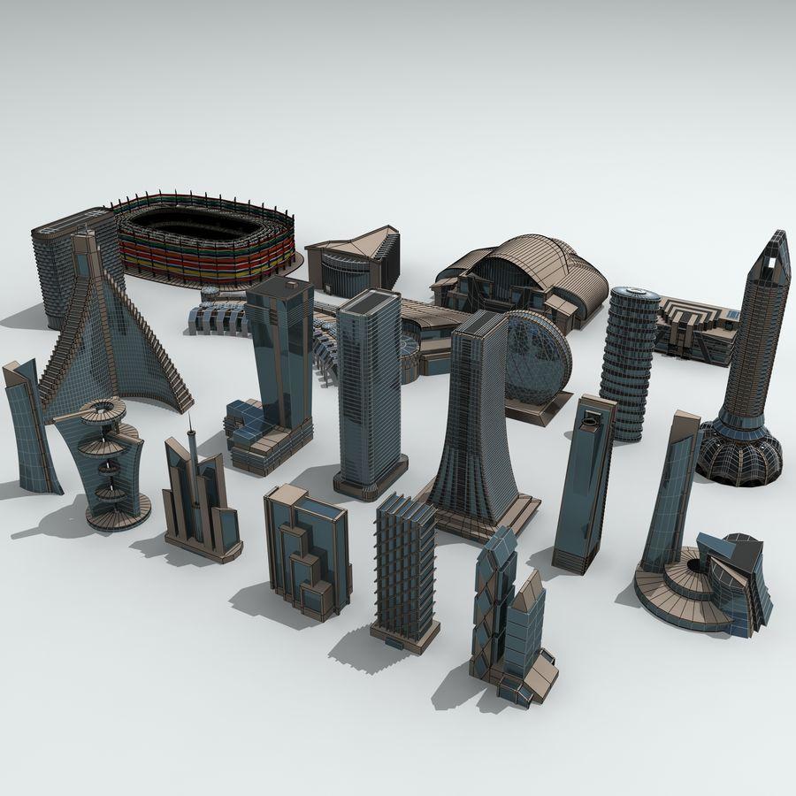 Gebäude der Stadt royalty-free 3d model - Preview no. 31