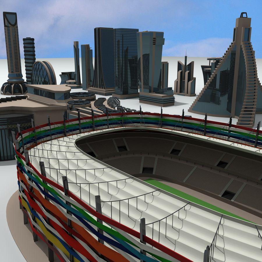 Gebäude der Stadt royalty-free 3d model - Preview no. 1