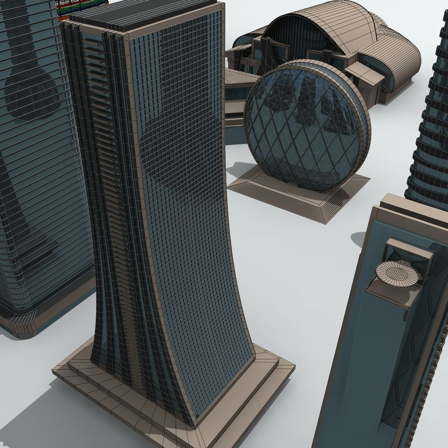 City Buildings royalty-free 3d model - Preview no. 32
