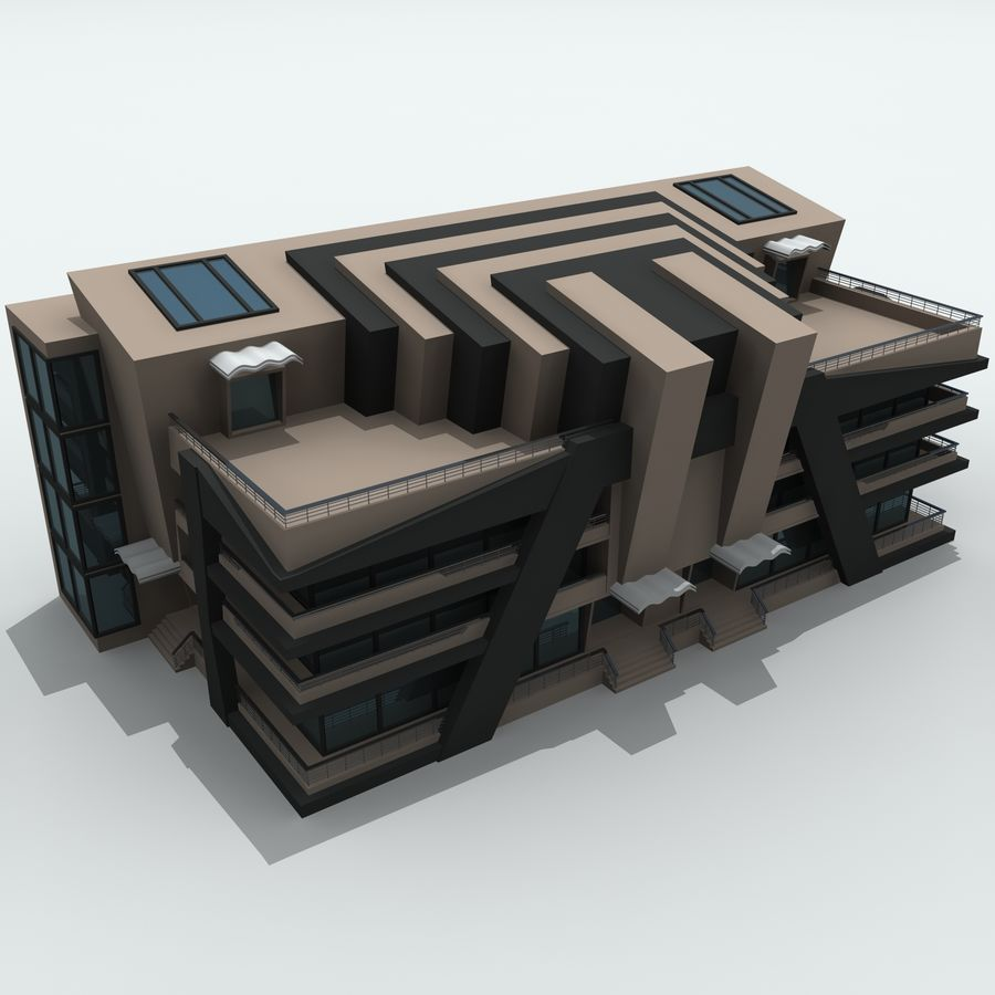 城市建筑 royalty-free 3d model - Preview no. 9