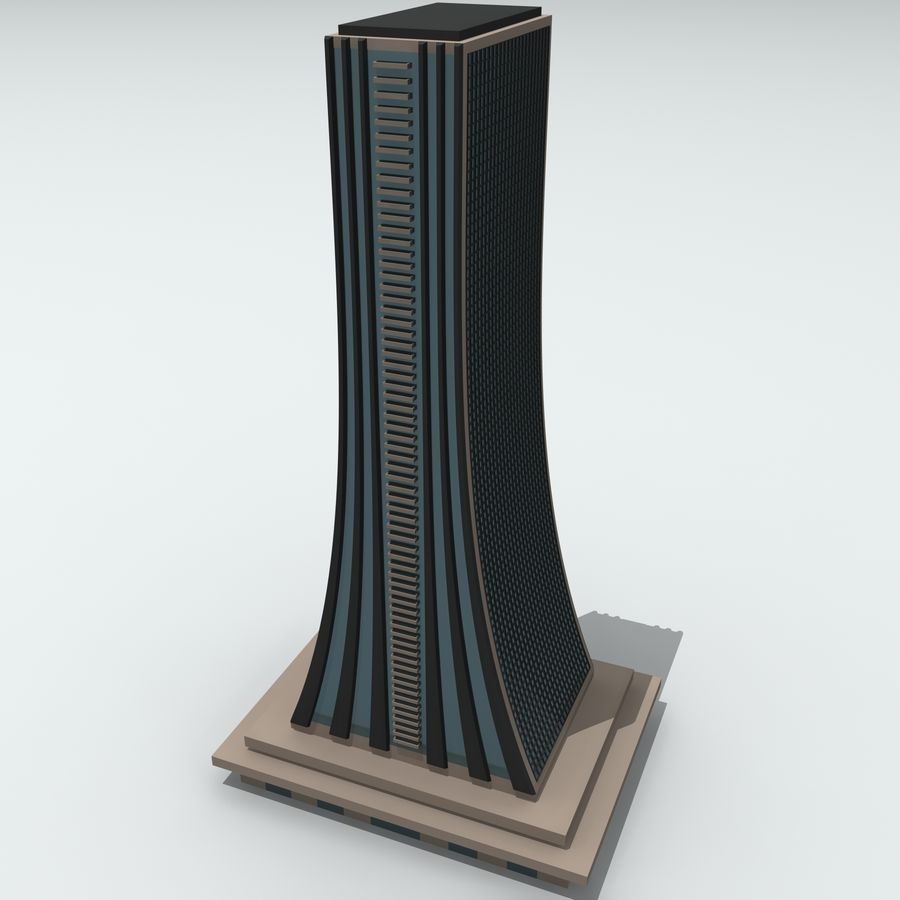 Gebäude der Stadt royalty-free 3d model - Preview no. 21