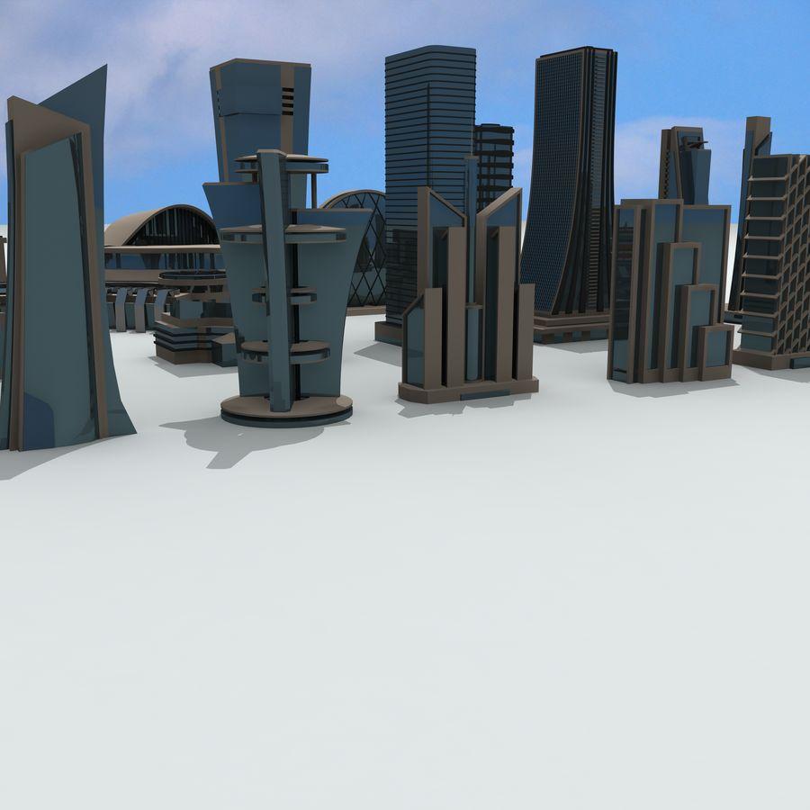 Gebäude der Stadt royalty-free 3d model - Preview no. 2