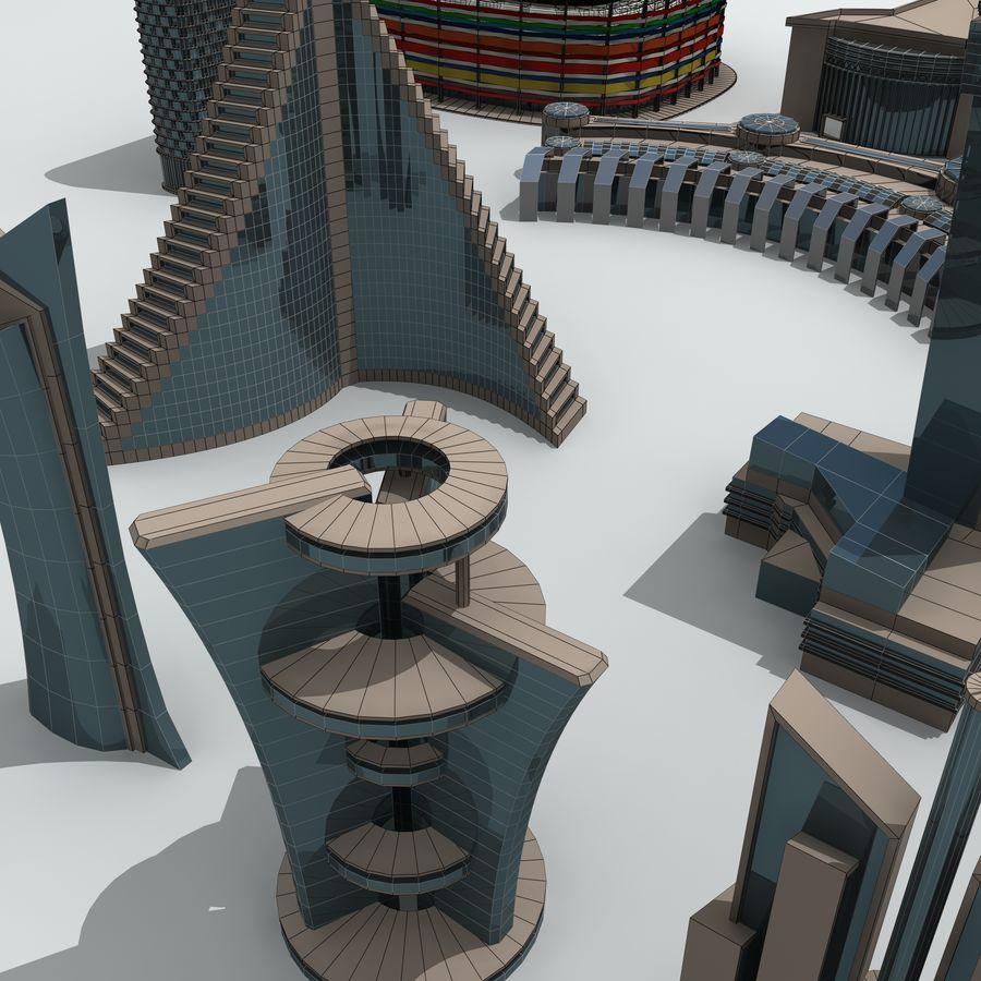 Gebäude der Stadt royalty-free 3d model - Preview no. 33