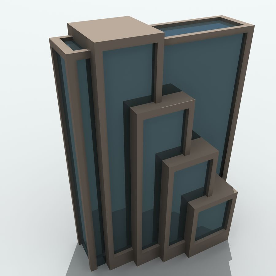 Gebäude der Stadt royalty-free 3d model - Preview no. 27