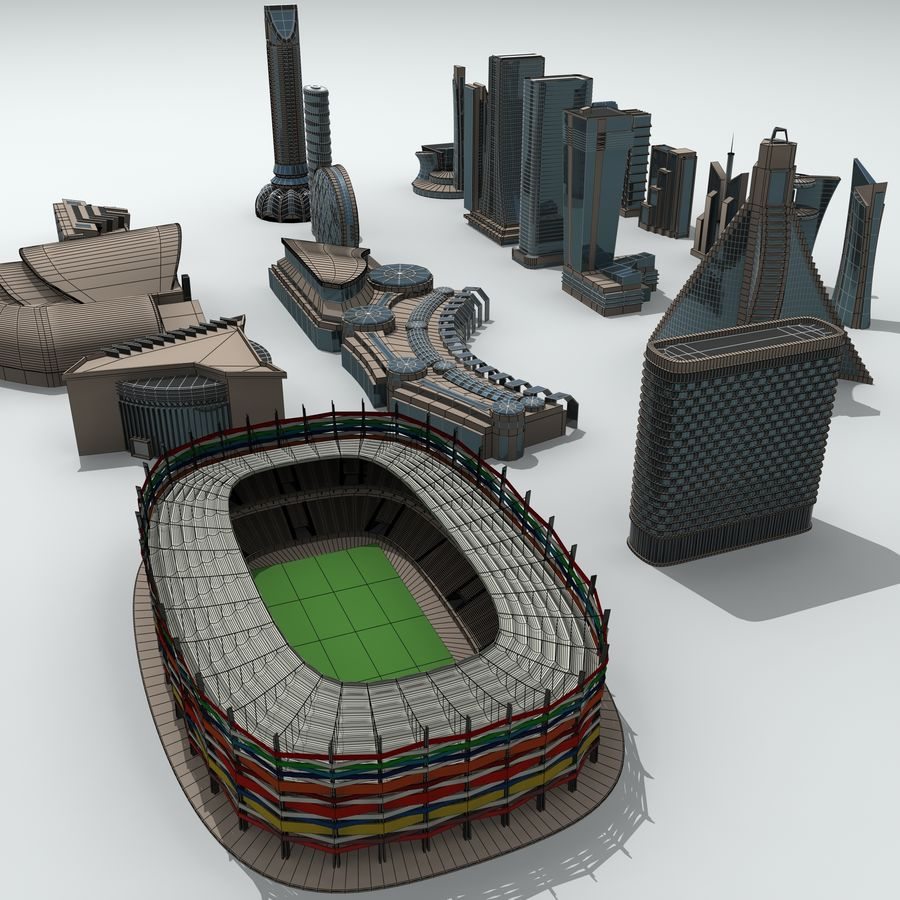 City Buildings royalty-free 3d model - Preview no. 30