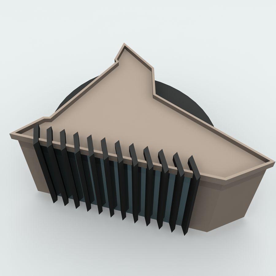 Gebäude der Stadt royalty-free 3d model - Preview no. 6