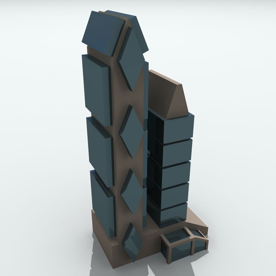 City Buildings royalty-free 3d model - Preview no. 29
