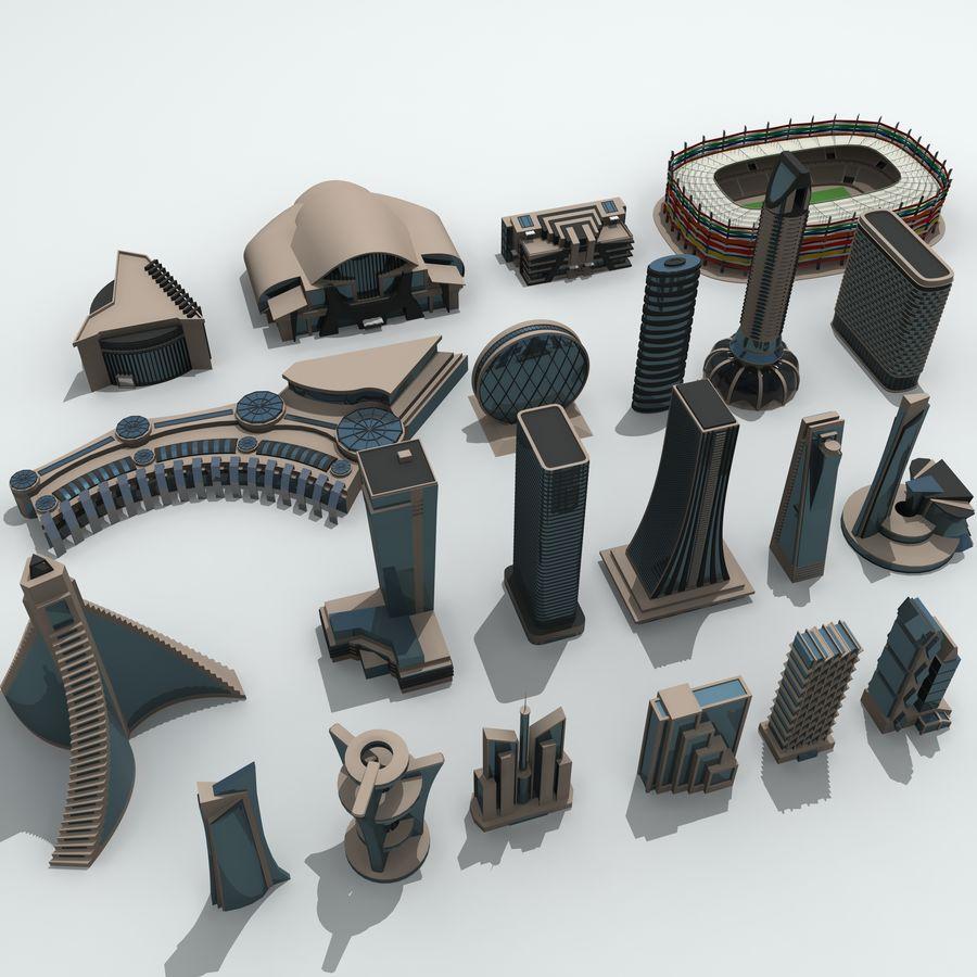 城市建筑 royalty-free 3d model - Preview no. 3