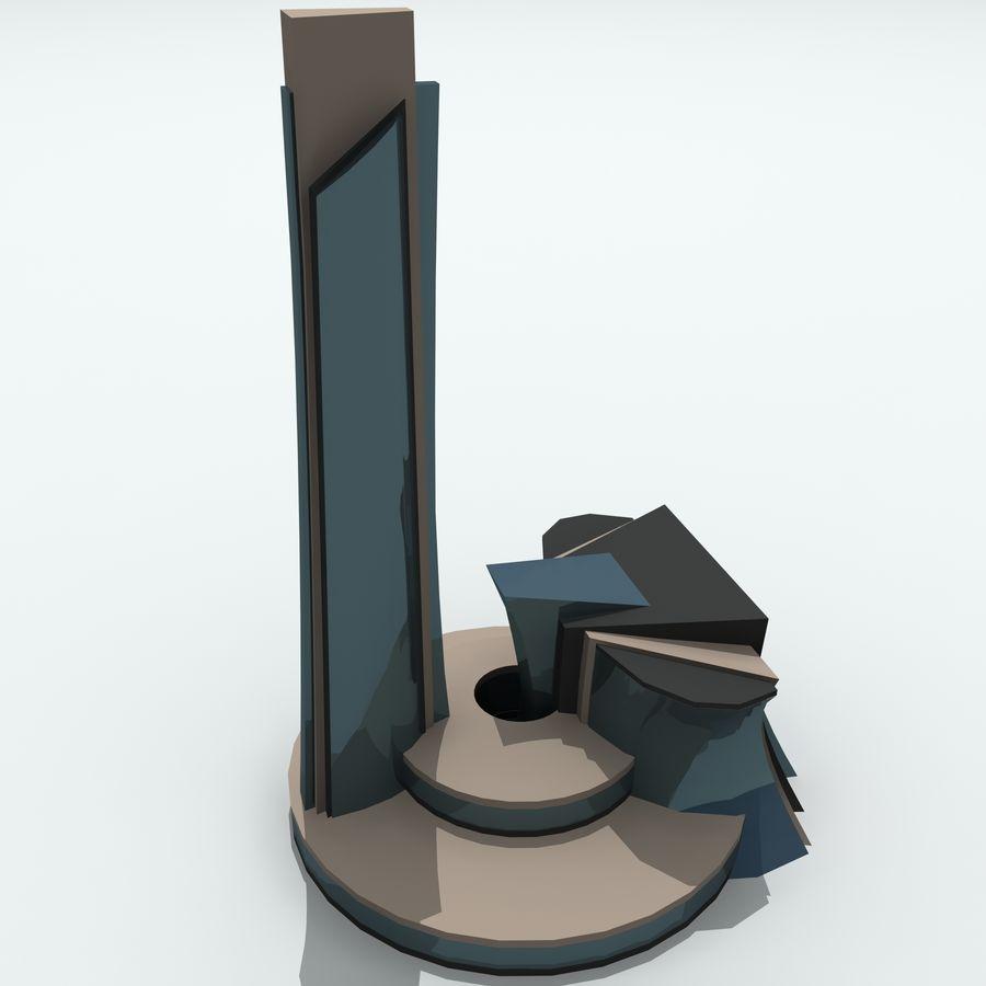 Gebäude der Stadt royalty-free 3d model - Preview no. 23