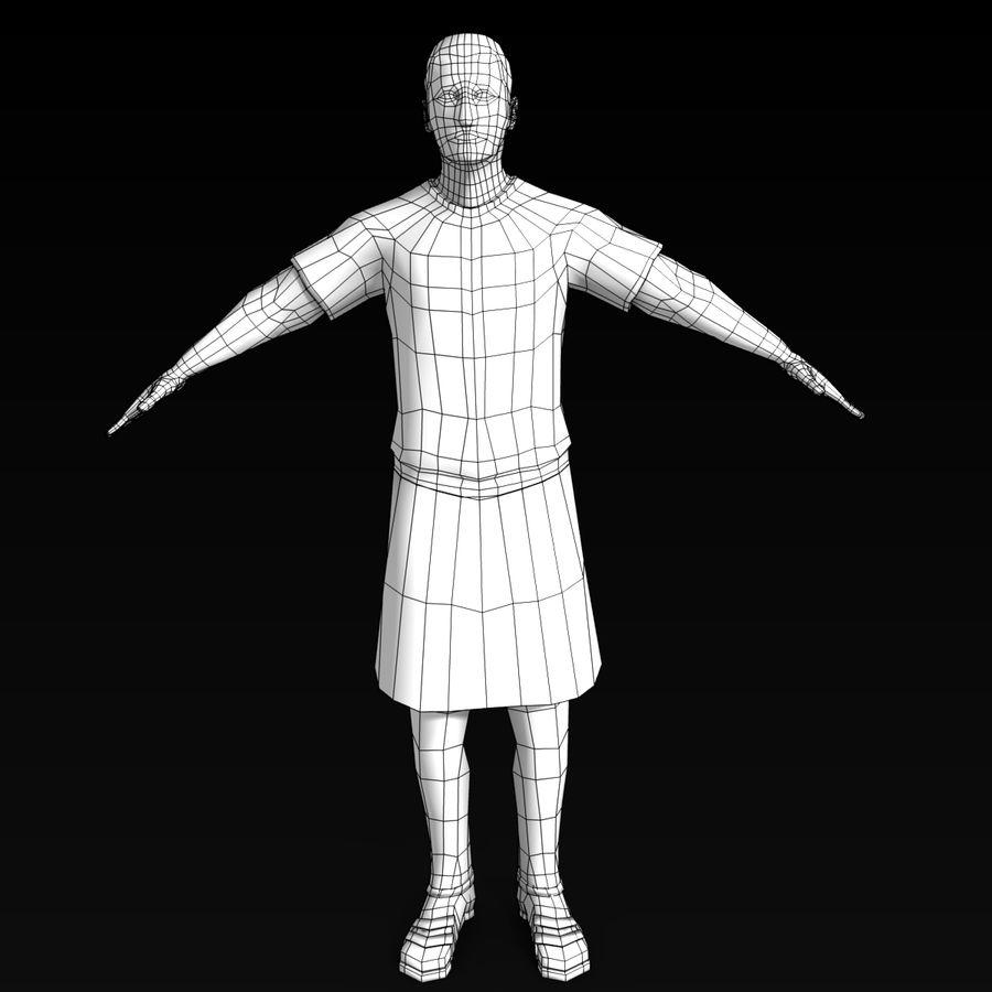 Low Poly Roman 1 royalty-free 3d model - Preview no. 4