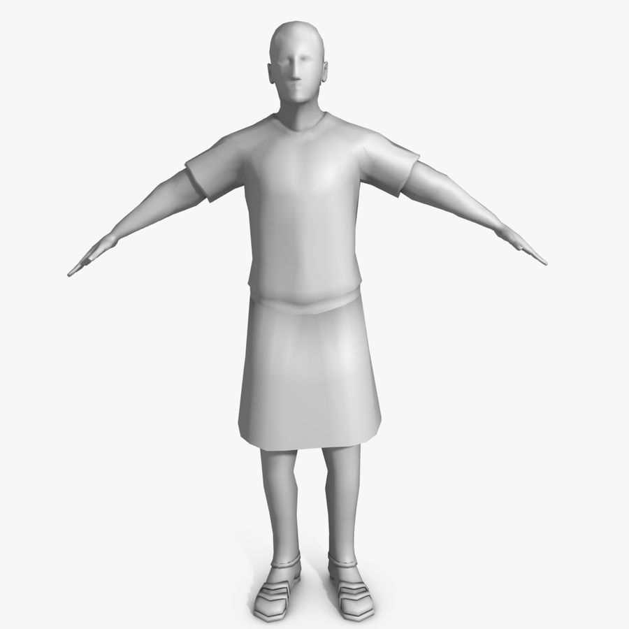 Low Poly Roman 1 royalty-free 3d model - Preview no. 3
