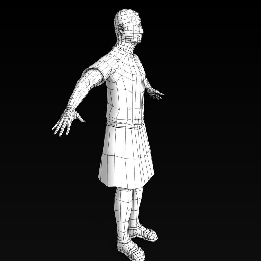 Low Poly Roman 1 royalty-free 3d model - Preview no. 5