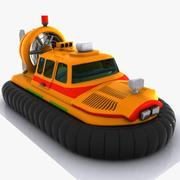 Cartoon Hovercraft 1 3d model