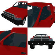 Pickup Low Poly 3d model