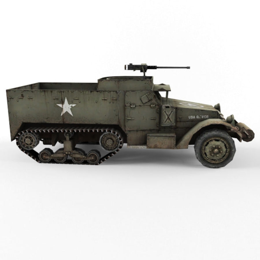 Half-track M3 royalty-free 3d model - Preview no. 6