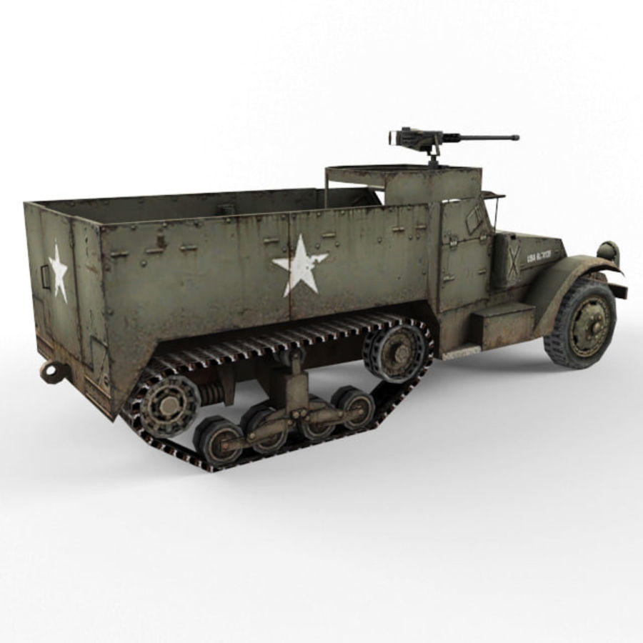 Half-track M3 royalty-free 3d model - Preview no. 5