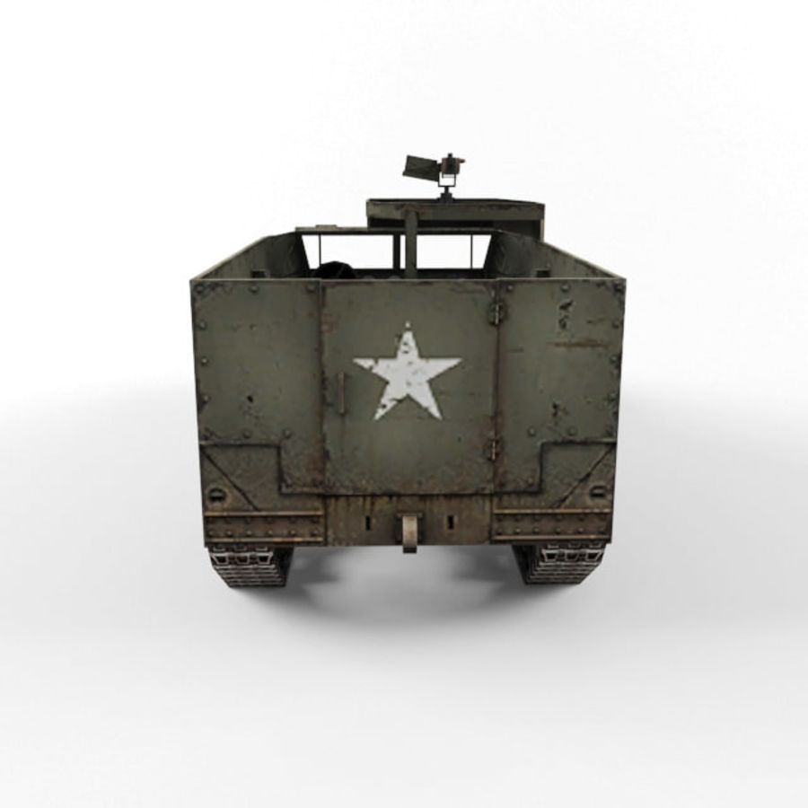 Half-track M3 royalty-free 3d model - Preview no. 4