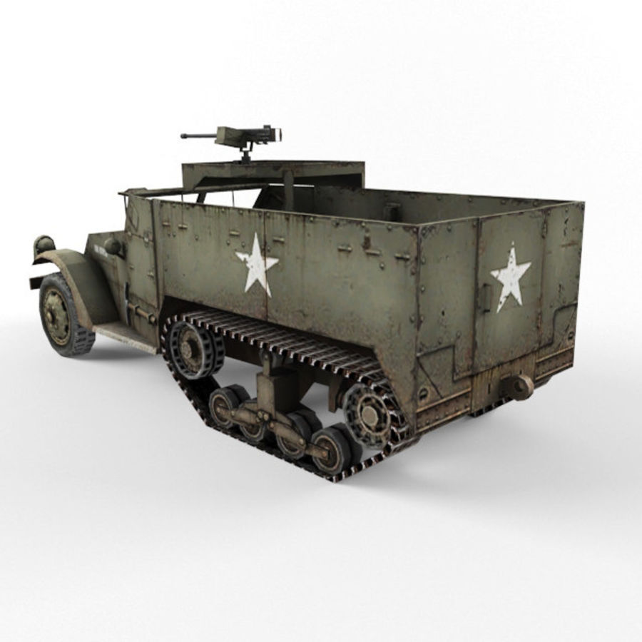 Half-track M3 royalty-free 3d model - Preview no. 3