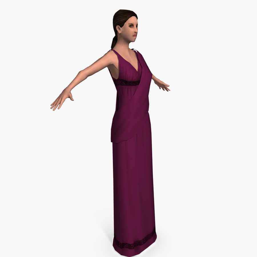 Femme Romaine Low Poly 4 royalty-free 3d model - Preview no. 1