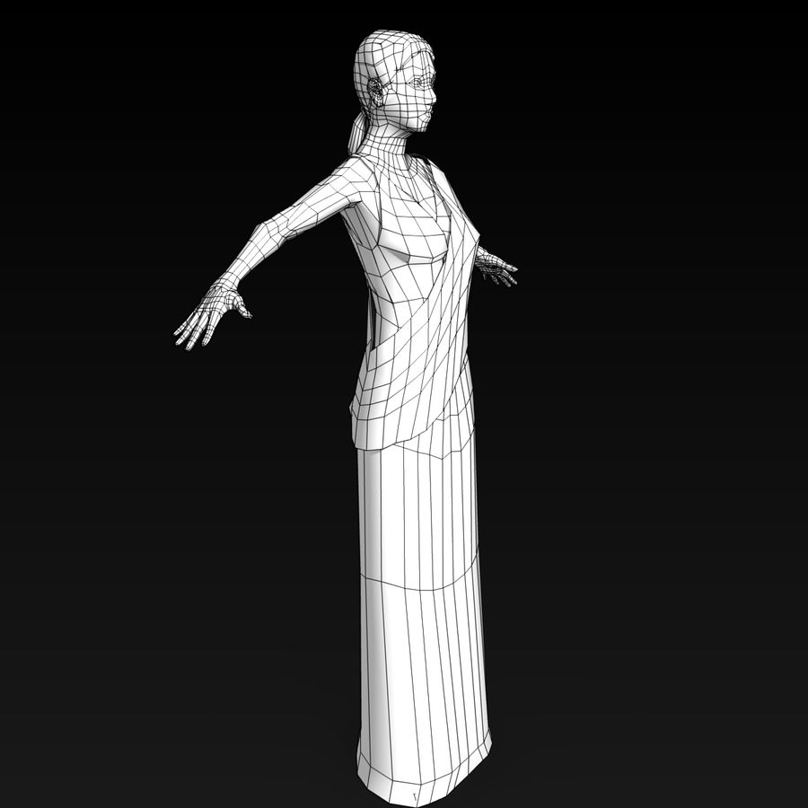 Femme Romaine Low Poly 4 royalty-free 3d model - Preview no. 5