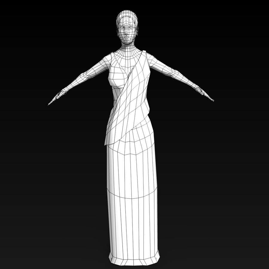 Femme Romaine Low Poly 4 royalty-free 3d model - Preview no. 4
