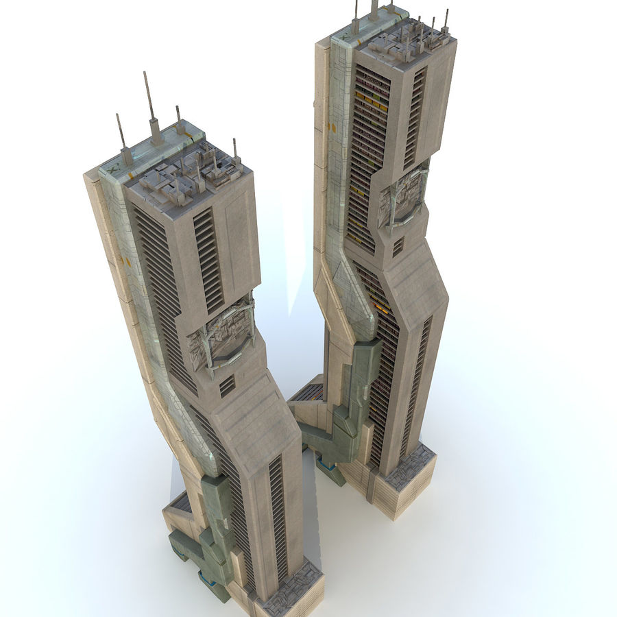 Futurystyczny budynek Sci Fi H royalty-free 3d model - Preview no. 2