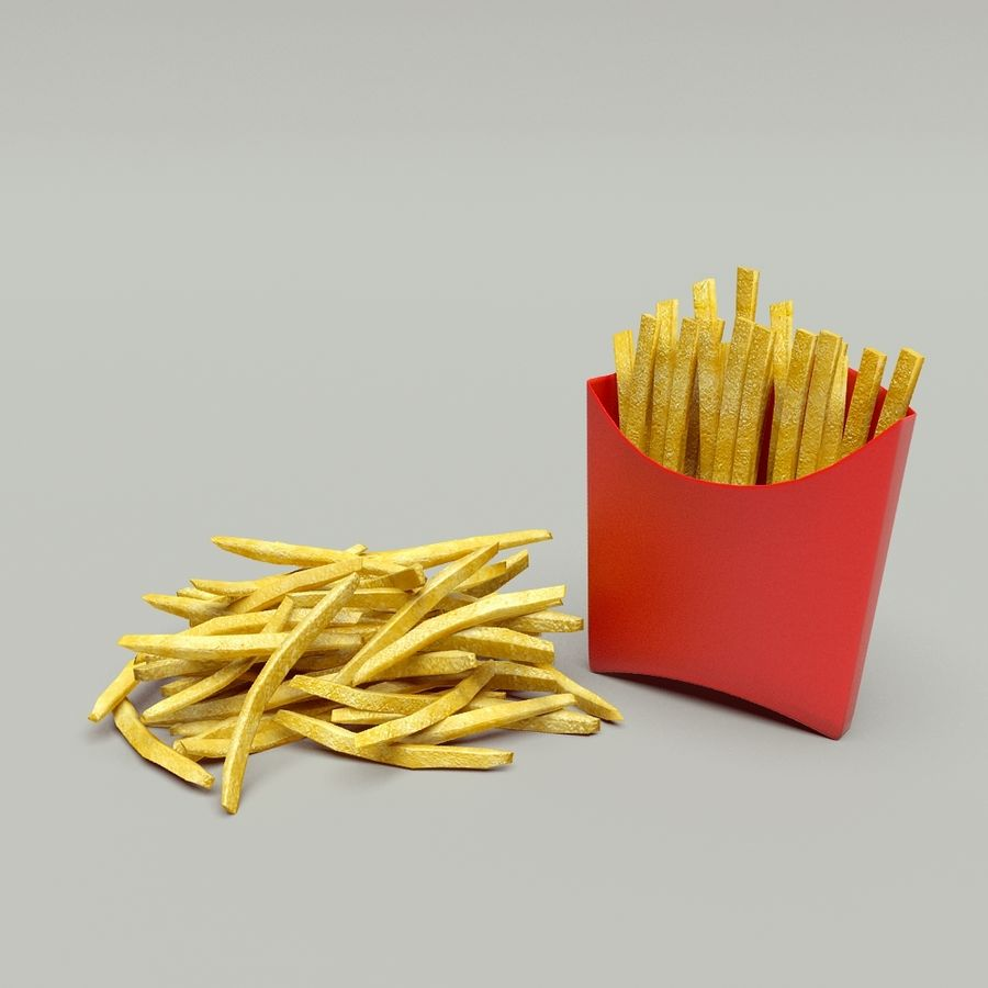 Fries royalty-free 3d model - Preview no. 1