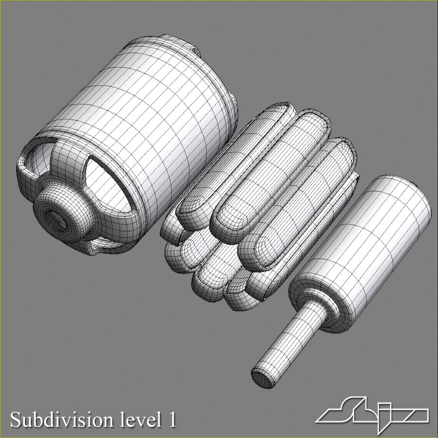 Electric Motor 2 Simplified royalty-free 3d model - Preview no. 13