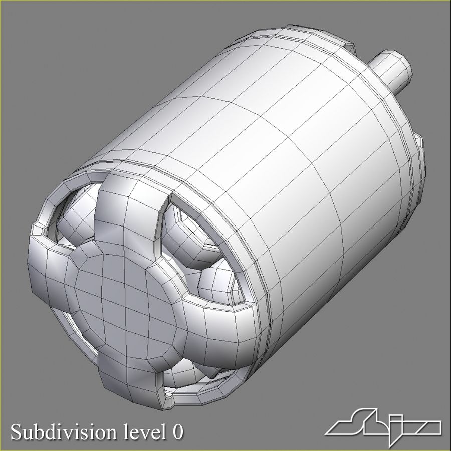 Electric Motor 2 Simplified royalty-free 3d model - Preview no. 8