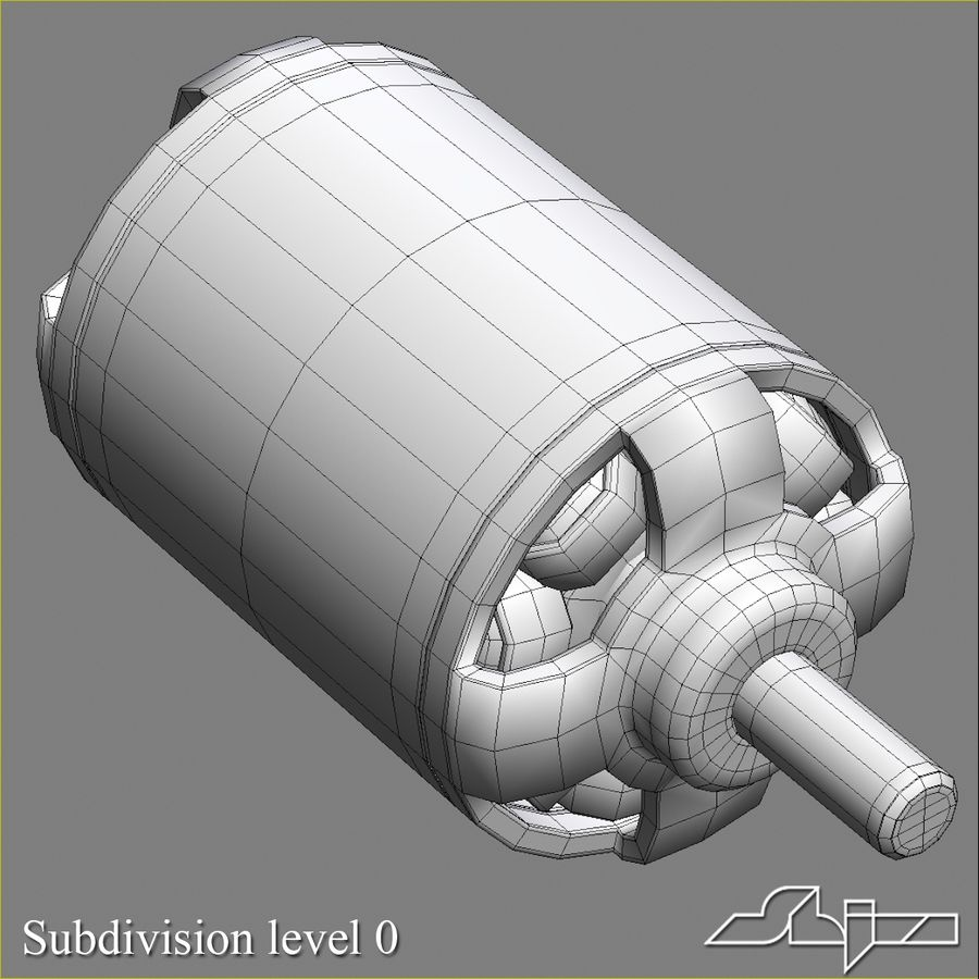 Electric Motor 2 Simplified royalty-free 3d model - Preview no. 6