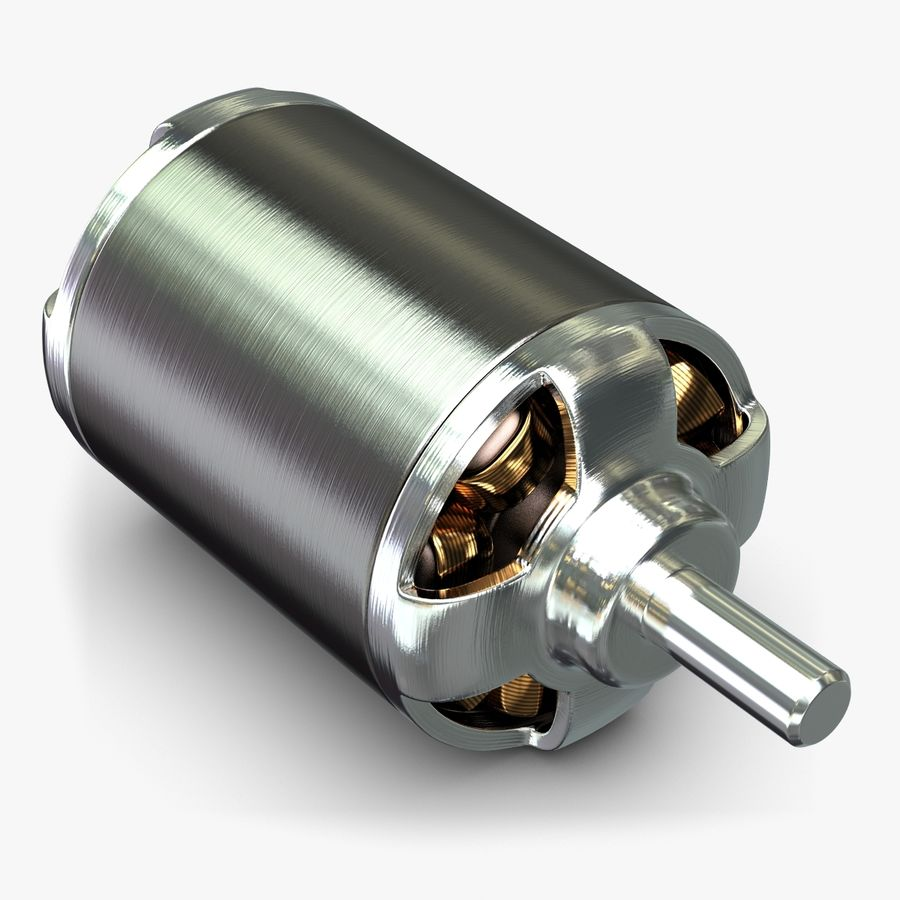 Electric Motor 2 Simplified royalty-free 3d model - Preview no. 1