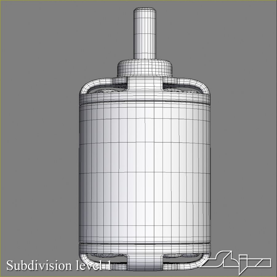 Electric Motor 2 Simplified royalty-free 3d model - Preview no. 11
